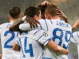 Лига чемпионов. «Динамо» — «Гент», 29 сентября: статистика встреч