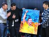 Андрій Шевченко та Каха Каладзе в матчі зірок футболу