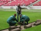 В Варшаве уже постелили газон для стартового матча Евро-2012