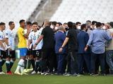 Скандал! Матч Бразилия — Аргентина остановлен из-за так называемого «медицинского протокола». Судьбу встречи решит ФИФА