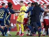 Игроки «Монако» и «Лиона» устроили массовую драку после матча
