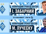 Илья Забарный и Мирча Луческу — лучшие игрок и тренер апреля в Украине