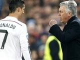 Анчелотти: «Никогда не требовал обратный трансфер Роналду»