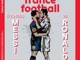 Месси и Роналду целуются на обложке France Football (ФОТО)
