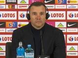 Польша — Украина — 2:0. Послематчевая пресс-конференция. Шевченко: «Единственное, чем я недоволен, — это результат»