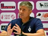 «Динамо» — «Верес» — 4:0. Послематчевая пресс-конференция. Карас: «Надеюсь, у Попова просто сильный ушиб...»