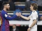 Модрич: «Рад, что Месси остался в «Барселоне», всегда интересно противостоять сильнейшим»