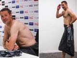 Тренер «Антверпена» пришел на пресс-конференцию голым (ФОТО)
