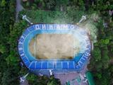 «Динамо» «выжгло» траву на своем стадионе, чтобы привлечь внимание к проблеме пожаров (ФОТО)