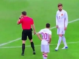 Работа системы видеоповторов в матче Франция — Испания (ВИДЕО)