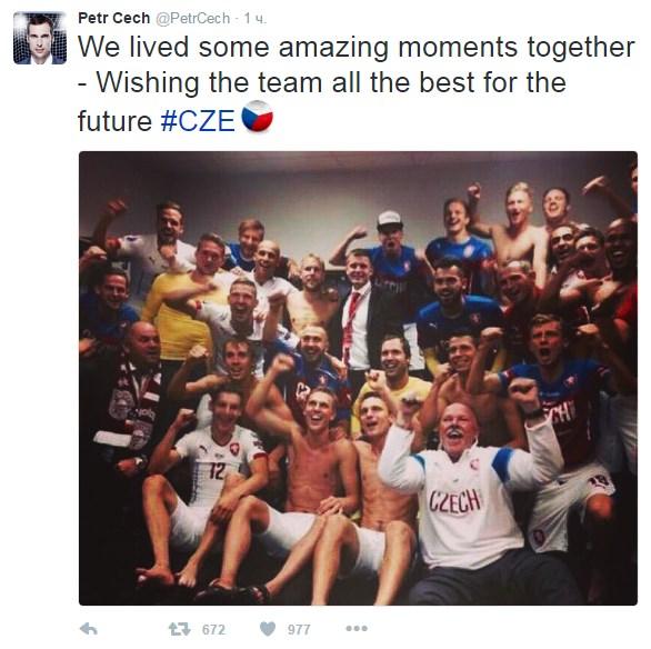 Петер Чех объявил озавершении карьеры в государственной сборной