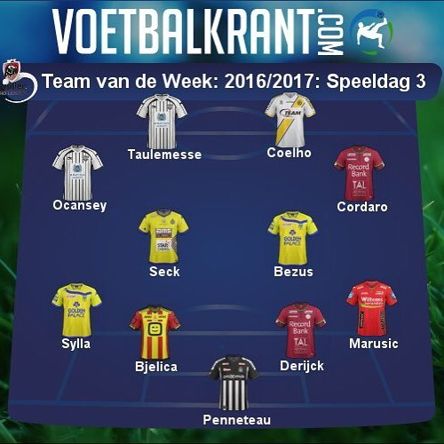 Безус попал в сборную 3-го тура чемпионата Бельгии