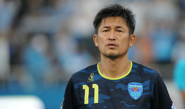 Японский футболист забил гол в50-летнем возрасте