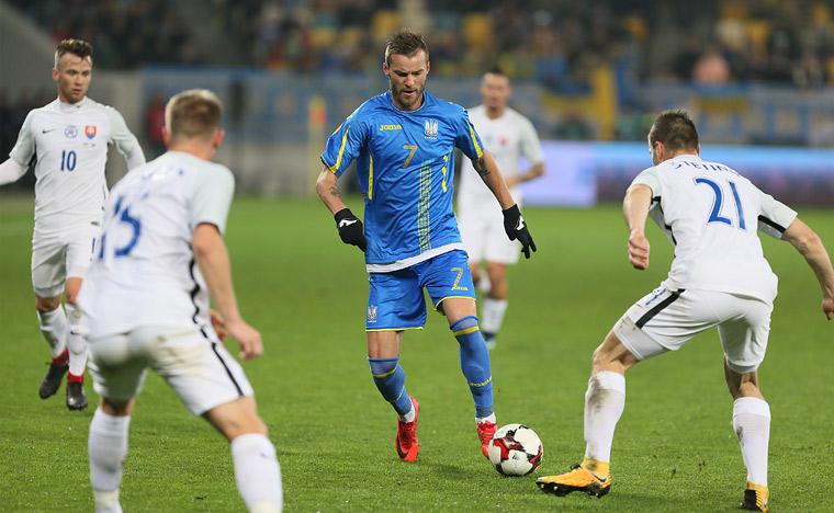 Товарищеский матч. Украина — Словакия — 2:1. Обзор матча, статистика