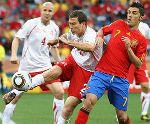 Футбол испания- швейцария 2010г
